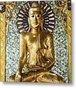 Buddha In Glass Metal Print