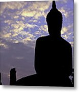 Buddha Silhouette Metal Print