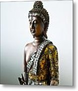 Buddha Statue With A Golden Robe Metal Print