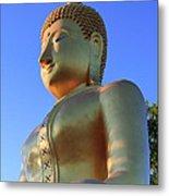 Buddha With Sunset Metal Print