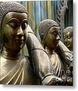 Buddhas With Umbrellas Metal Print