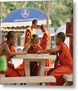Buddhist Childhood Metal Print