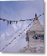 Buddhist Shrine In The Himalayas Metal Print