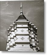 Buddhist Temple Wat Luang In Chiang Khong In Thailand Metal Print