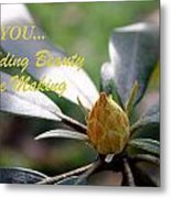 Budding Beauty Metal Print