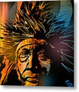 Buffalo Headdress Metal Print