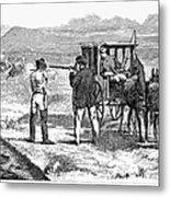 Buffalo Hunting, 1874 Metal Print