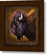 Buffalo Lodge Metal Print by JQ Licensing
