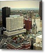 Buffalo New York Aerial View Metal Print