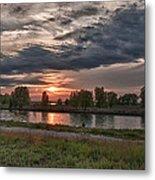 Buffalo Sunset 14390 Metal Print