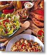Buffet Spread Metal Print