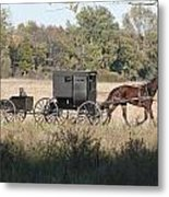 Buggy And Wagon Metal Print