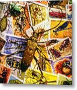 Bugs On Postage Stamps Metal Print