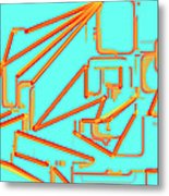 Build A Better Mousetrap With Cheese  Colored Art Metal Print
