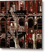 Building Facade In Brown And Red Metal Print