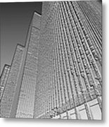 Building In Monochrome Metal Print