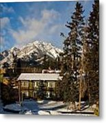 Building On A Cold Sunny Day  Metal Print