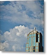 Building With Its Head In The Clouds Metal Print