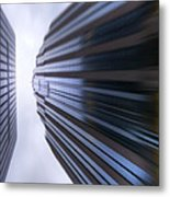 Buildings Abstract Metal Print
