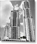 Buildings Downtown Miami Metal Print