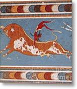 Bull-leaping Fresco From Minoan Culture Metal Print