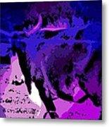 Bull On The Move Metal Print