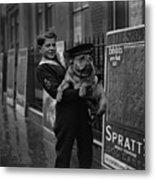 Bulldog Beauty Metal Print by London Express