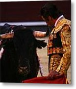 Bullfight Madrid Metal Print
