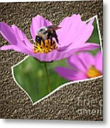 Bumble Bee Pop Out Metal Print
