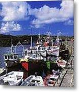 Bunbeg, Donegal, Ireland Harbour Of A Metal Print