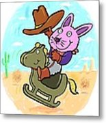 Bunny Cowboy Metal Print by Scott Nelson