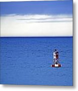 Buoy Off Bass Harbor Head Metal Print
