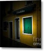 Burano Flower Shop Metal Print