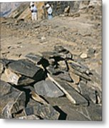 Burgess Shale Fossil Quarry Metal Print