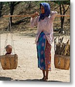 Burman Woman And Son Metal Print