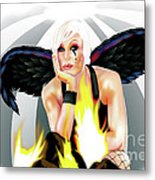 Burning Angel Metal Print