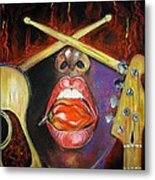 Burning Gums Metal Print by Yxia Olivares