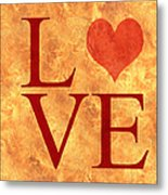 Burning Love Metal Print