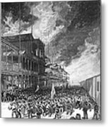 Burning Of Colon, 1885 Metal Print