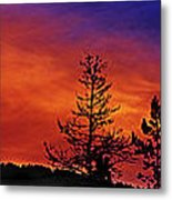 Burning Sunrise Metal Print