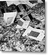 Burnt Remains Of Joss Paper Offerings In The Furnace In A  Monastery Sha Tin New Territories Metal Print by Joe Fox
