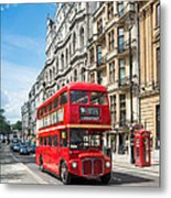 Bus On Piccadilly Metal Print
