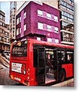 Bus Stop - La Coruna Metal Print