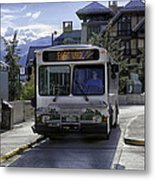 Bus To East Vail - Colorado Metal Print