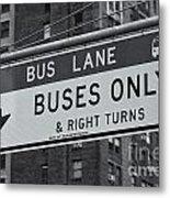 Buses Only II Metal Print