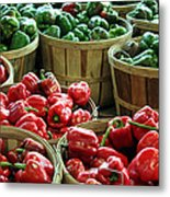 Bushels Of Green And Red Metal Print