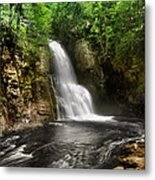 Bushkill Waterfalls Metal Print