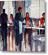 Business Lunch Metal Print