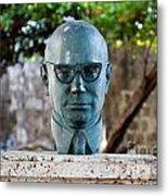 Bust Of Carlos Lleras Restrepo In Cartagena De Indias Colombia Metal Print