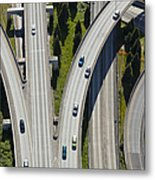 Busy Freeway Interchange Metal Print by Don Mason